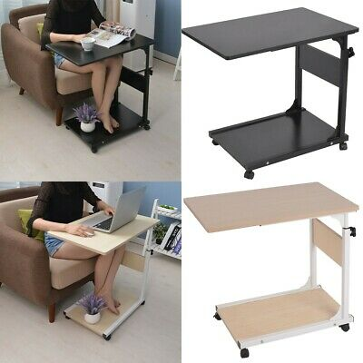 Soges 31.5 inches Adjustable Laptop Desk Portable Laptop Table Computer Stand Notebook Desk Side Table for Bed and Sofa Black ZS-S1-2BK