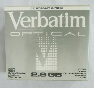 Verbatim Optical Disk CC Format CCW 1024 2.6GB