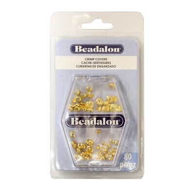 Beadalon® Crimp Covers Variety Pack 3mm 4mm Gold Color 80 pieces