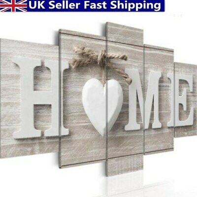 ❤ 5 Panels Love Home Wall Pictures Canvas Painting Decoration Unframed Gifts