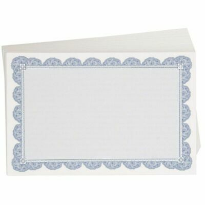 20 BLANK CERTIFICATE Paper - Blue Border - Design Your Own
