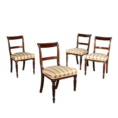 Set of Four Chairs Mahogany England Late 18th Century