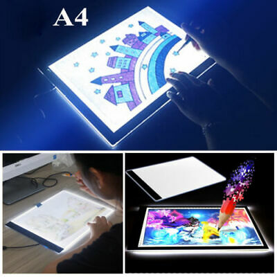A4 LED Stencil Board Light Box Artist Art Tracing Draw Copy Plate Table kid 2019