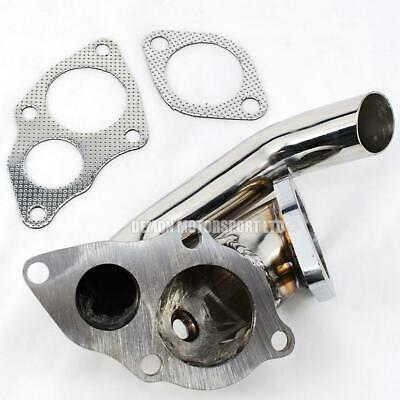 EVO 1 2 3 GSR RS TD05 Turbo Elbow Downpipe / Screamer Pipe (Stainless)