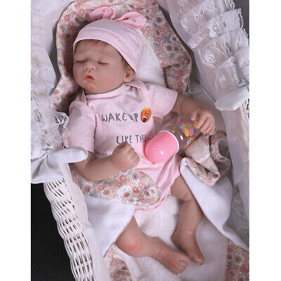 Real Life Reborn Newborn Lifelike Body Soft Vinyl Silicone Baby Girl Dolls