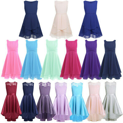 Kids Girls Princess Party Dress Formal Gown Wedding Bridesmaid Flower Girl Dress