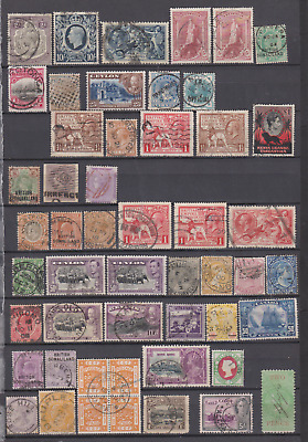 Commonwealth 1880's/1960's Collection Used to £1  SUPERB POSTMARKS