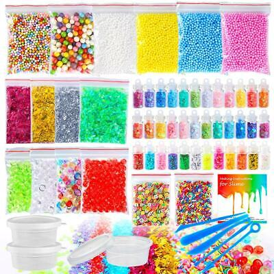 Slime Making Accessories 60 Pack Supplies Kit Creative Toys For Girl Kid