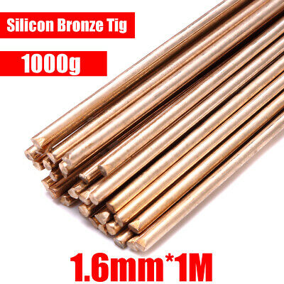 UK 1.6mm Silicon Bronze TIG Filler Rods 100cm 1kg - 1 Lb ERCuSi-A - Welding Wire
