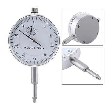 Dial Indicator Gage 0-10MM Outer Measuring 0.01mm Accurate Clock High Precision