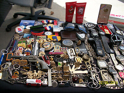 Lot Of Mens Watches Trinkets Collectables Junk Drawer Guy Stuff