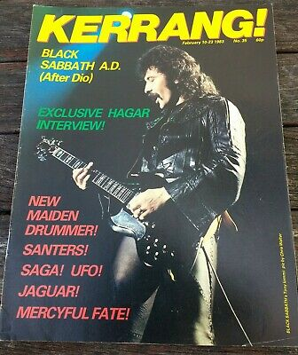 KERRANG! Issue 35. February 10 - 23 1983. Black Sabbath.