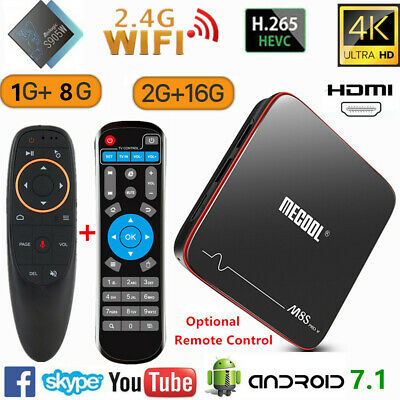 MECOOL M8S PRO W Voice Control TV Box 2+16G Android 4K 3D WiFi Quad Core Player