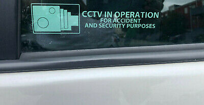 CCTV in operation sign for Cars / Van pair of CCTV Inoperation sign