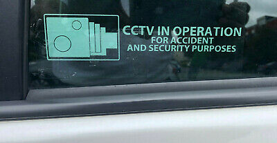 CCTV In Operation Accident Security Sticker Car Van Taxi Cab Sign Waterproof