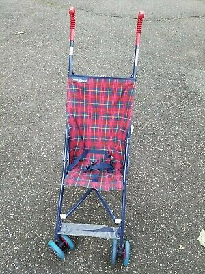 Umbrella Stroller -- Brand New -- Baby Trend -- Red and Blue Plaid