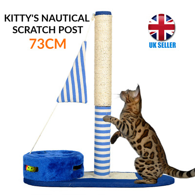 Cat Kitten Scratching Post Tree Scratcher  - 3 Stunning Nautical designs