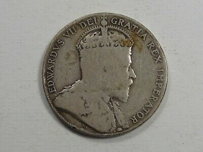 1909 Canadian Silver 50 Cent CANADA.  #82