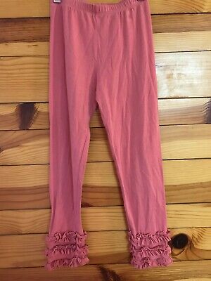 Persnickety Pink Ruffled Gracie Leggings Girls Size 7