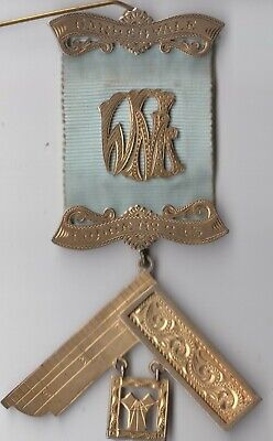 Masonic silver medal 1958 Master W.N Ling Master Gardenvale Victoria lodge