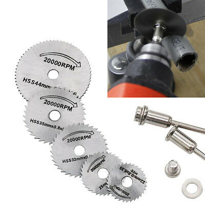 HSS Circular Wood Cutting Saw Blade Discs+Mandrel Drill For Rotary Tool