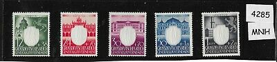 MNH Embossed Swastika complete stamp set / 1943 German Occupied Poland WWII