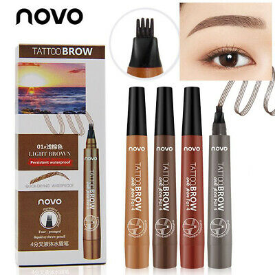 Waterproof Microblading Eyebrow Tattoo Pen Enhancer Fork Tip Eyebrow Pencil