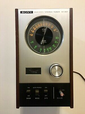Vintage Sony ST-80F Stereo Tuner Radio Solid State Early 1970's Audiophile JAPAN