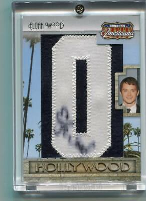 2009 Donruss Americana ELIJAH WOOD Autograph Patch FRODO Lord of the Rings #d/46
