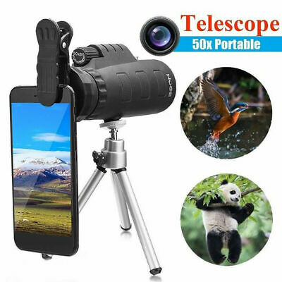 50X60 HD Optical Monocular Telescope Zoom Lens + Tripod + Phone Support Handheld