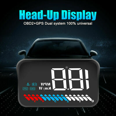 Head Up Display OBD2 GPS Dual Model HUD Projector Speedometer MPH KM/h Warn 2019