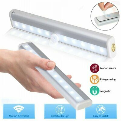 PIR Motion Sensor Cabinet LED Lights Battery Wardrobe Cupboard Closet Light