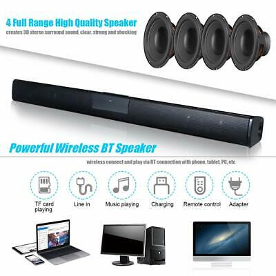 Bluetooth Wireless TV Soundbar 4 Speaker 3D Sound Bar Home Theater Subwoofer RCA