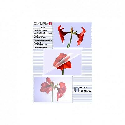 Olympia Laminating Film 100 x Din A6 125 Micron Top Quality