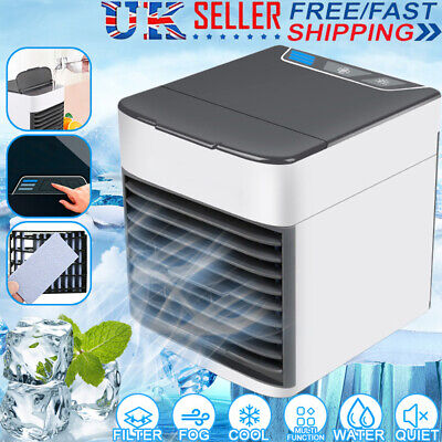 Portable Mini Air Cooling Conditioner USB Air Cooler Water Tank Fan Humidifier