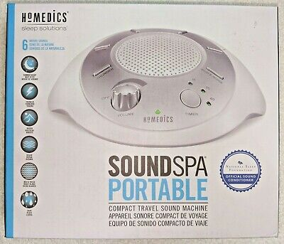 HoMedics NEW Sound Spa Portable Sleep Solution 6 Relaxation Sounds