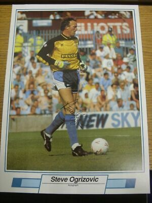1991/1992 Autographed Magazine Picture: Coventry City - Ogrizovic, Steve  [Size: