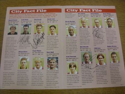1994/1995 Autographed Magazine Picture: Bristol City - Welch, Keith & Bryant, Ma