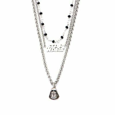 Star Wars Darth Vader 3-Tier Pendant Necklace - Boxed Stainless Steel Choker