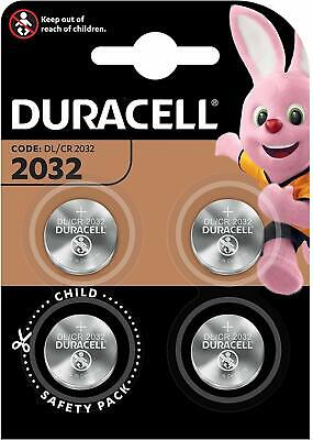 4 Pack DURACELL DL/CR 2032 3V Lithium Coin Cell Battery Batteries LONG EXPIRY