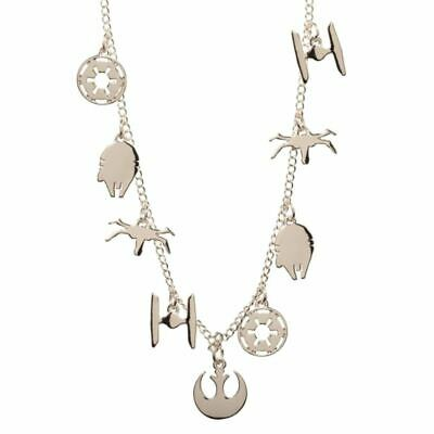 Star Wars New Hope Charm Choker Necklace Pendant - Petite Alloy Delicate