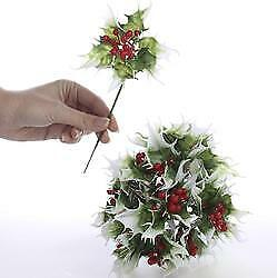 Artificial Holly Floral Pick | 12 Pieces