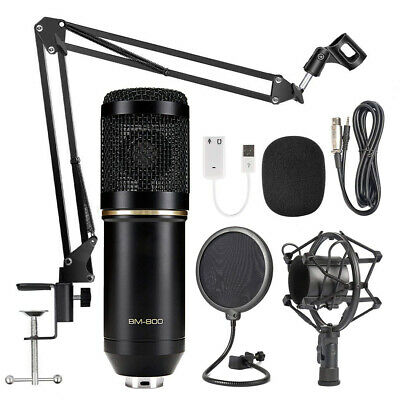 BM800 Condenser Microphone Kit Pro Audio Studio Recording Brocasting Music Tools