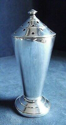 """SUPERB Large 6"""" ~ ART DECO ~ SILVER Plated ~ Sifter SHAKER ~ c1935"""