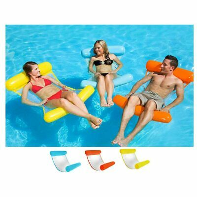 Inflatable Floating Water Hammock Float Pool Lounge Bed Swimming Chair Beach Bed