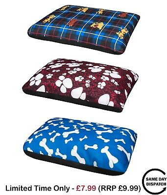 New Happy Paws Large Dog Puppy Cat Pet Soft Comfortable Bed Pillow Cushion
