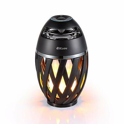 DIKAOU Led flame table lamp Torch atmosphere Bluetooth speakers&Outdoor Portable