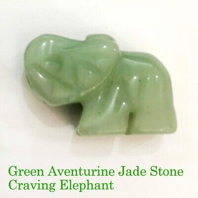 1X Natural Carved Crystal Jade Animals Stone Feng Shui Figurine Office Decor New