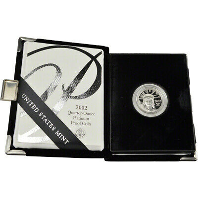2002-W American Platinum Eagle Proof 1/4 oz $25 in OGP