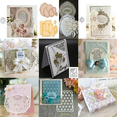 Lace Frame Metal Cutting Dies Stencil Scrapbook Embossing Card Album Craft DIY